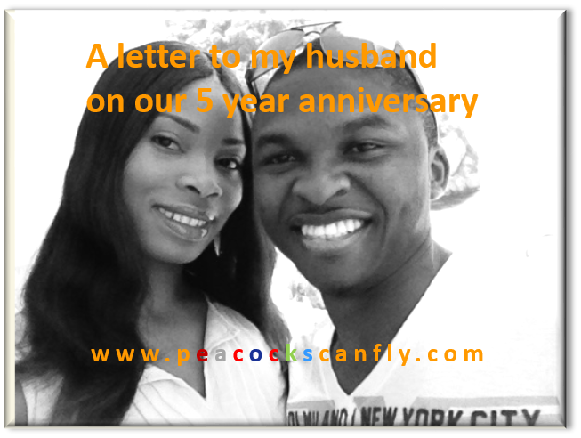 A letter to my husband on our 5 year anniversary